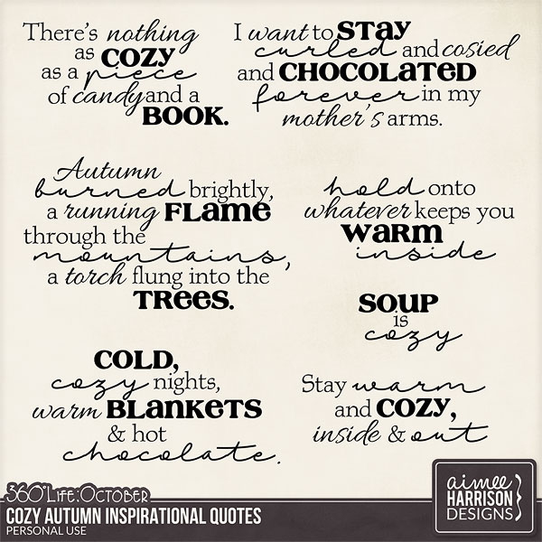 October: Cozy Autumn Quotes