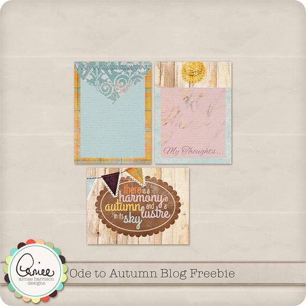 Ode to Autumn Blog Freebie!