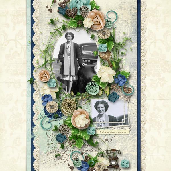 By Renee (template: Vintage Charm 5 by Heartstrings Scrap Art)
