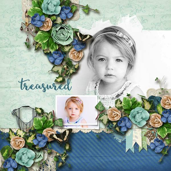 By Robin (template: Vintage Charm 5 by Heartstrings Scrap Art)