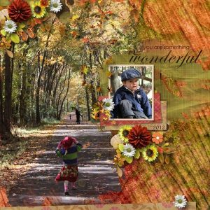 Layout by Rebecca (template: A Little Bit Arty #6 by Heartstrings Scrap Art)