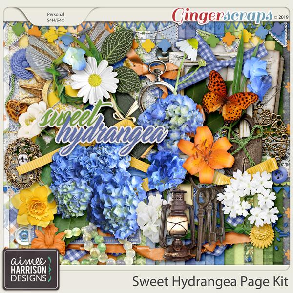 Sweet Hydrangea and Freebie!