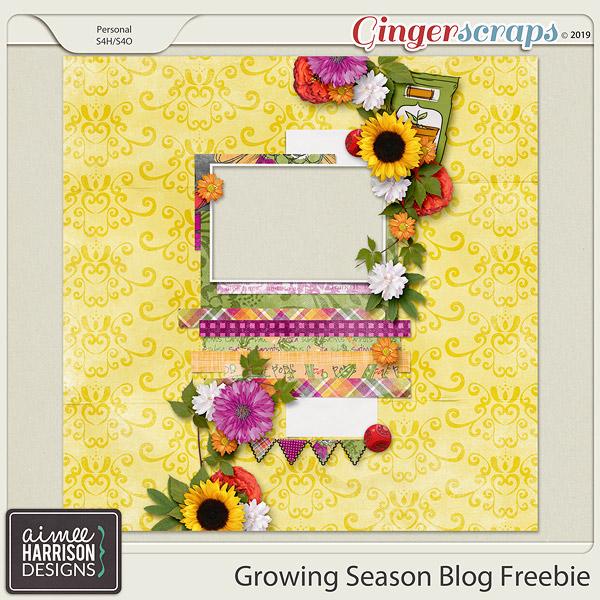 Growing Season is on Sale and a Freebie!