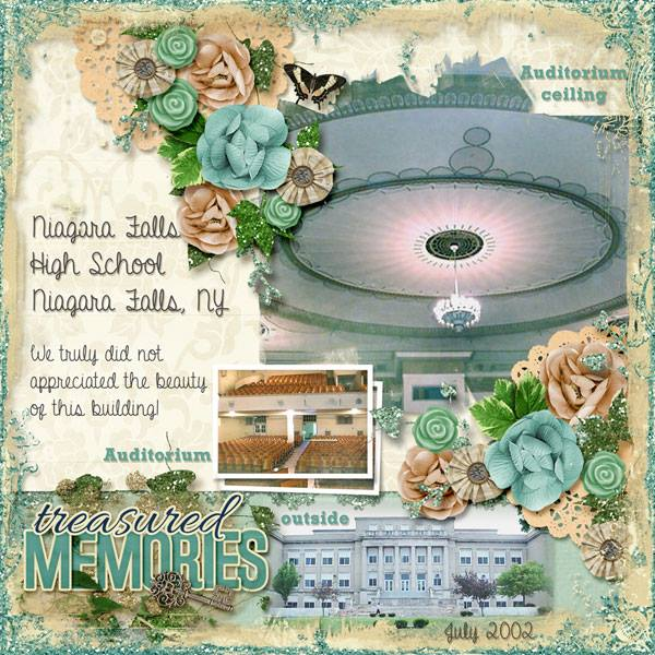 By Kathy (template: Vintage Charm 5 by Heartstrings Scrap Art)
