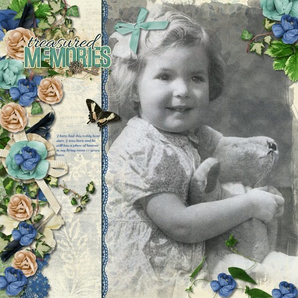 By Maureen (template: Vintage Charm 5 by Heartstrings Scrap Art)