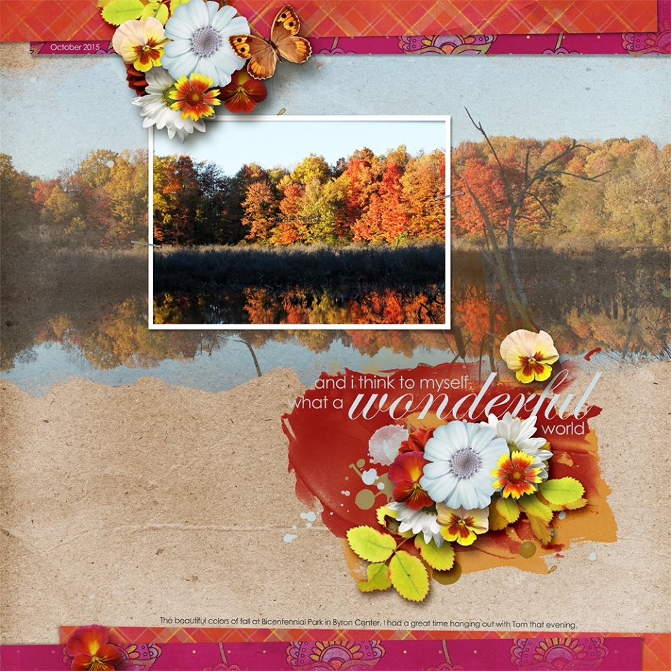 Layout by Me (template: A Little Bit Arty #6 by Heartstrings Scrap Art)