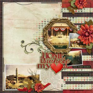 Home is Where My Heart Is - layout by Connie (template: Strip It #1 by Heartstrings Scrap Art)