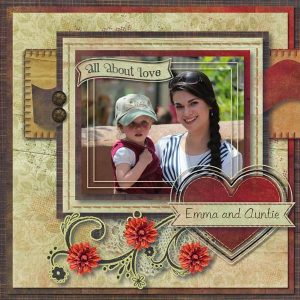 Home is Where My Heart Is - layout by Rebecca