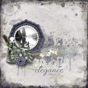 Old World Elegance - layout by Connie (template: Arty Inspiration #6 by Heartstrings Scrap Art)
