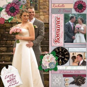 Romance Blooms - layout by Toni (template by Miss Fish Designs)