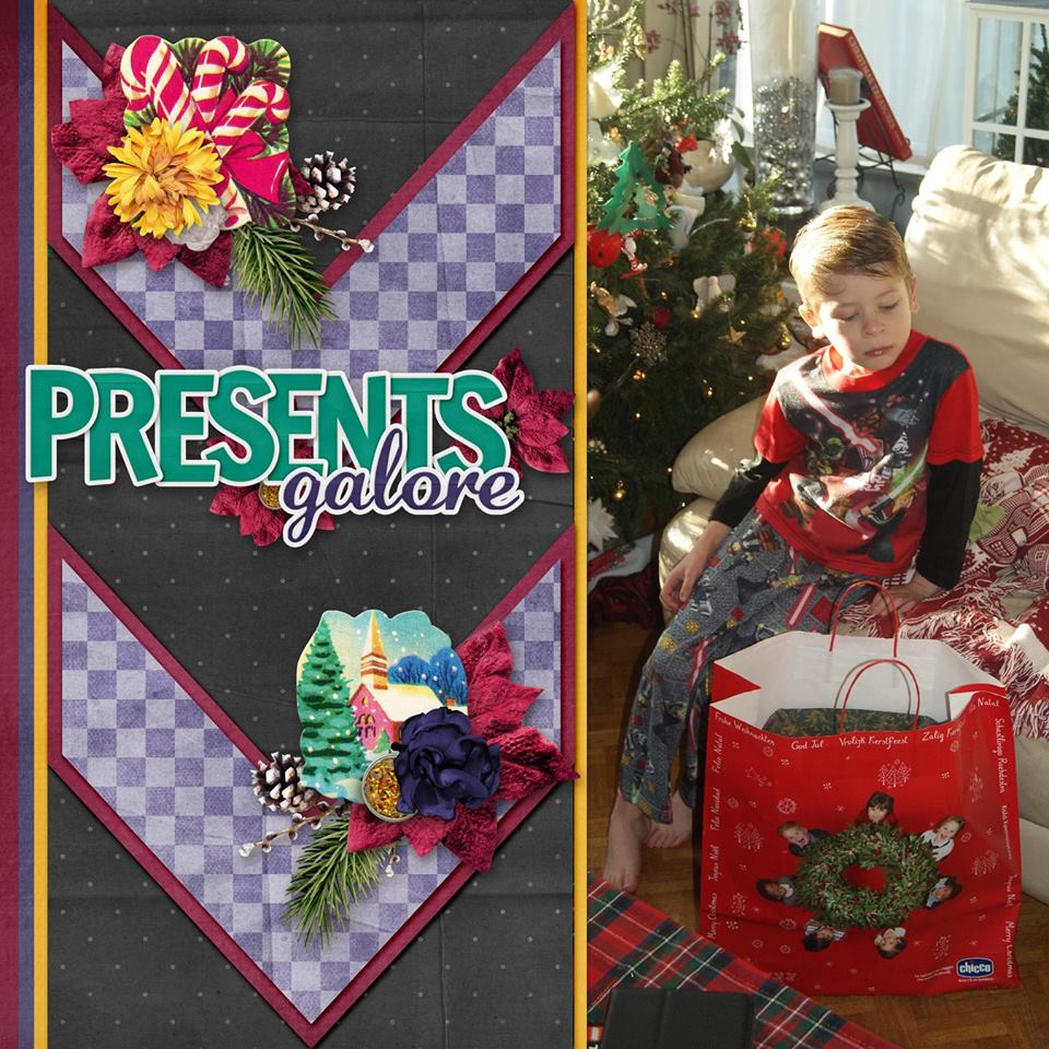 Layout by Lisa Marie (template by Throwing Some Scraps Around)